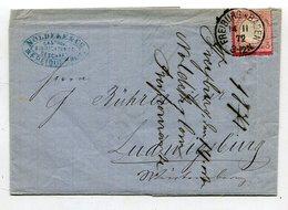 Deutsches Reich / 1872 / Mi. 9 EF A. Brief K1-Stempel Freiburg (26238) - Storia Postale