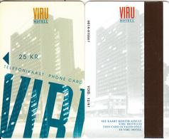 ESTONIA - Hotel Viru Magnetic Telecard 25 KR(matt Surface, Brown Strip), Exp.date 12/97, Used - Estonia