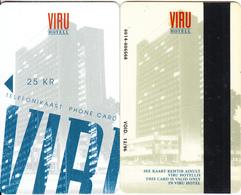 ESTONIA - Hotel Viru Magnetic Telecard 25 KR(glossy Surface, Black Strip), First Issue, Exp.date 12/96, Used - Estonia