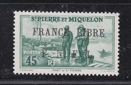 SAINT PIERRE ET MIQUELON FRANCE LIBRE 256 LUXE NEUFS SANS CHARNIERE - Neufs
