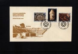 Cyprus 1982 Art,Archeology FDC - Archaeology