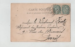 Généalogie Carte Précurseur 1904 Lieutenant Régiment Sapeurs Pompiers Rue Des Réservoirs Paris Chapelle De Bonnebos - Généalogie