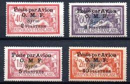 Poste Aerienne De Syrie Y&T N° 10 à 13 Neufs * Avec Ou Traces De Charnières/MH - Airmail