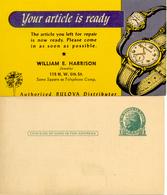 "Etats-Unis 1950 "" Montres Bulova "" Entier Postal Illustre - Clocks"