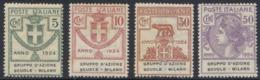 """1924 ENTI PARASTATALI """"GRUPPO D'AZIONE SCUOLE-MILANO"""" NUOVA* TRACCIA DI LINGUELLA - MLH VERY FINE - Sin Clasificación"""