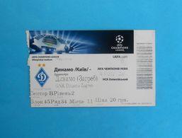 FC DYNAMO Kyiv : DINAMO Zagreb - 2012. UEFA CHAMPIONS LEAGUE Football Match Ticket * Soccer Fussball Billet Ukraine Kiev - Match Tickets