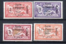 Poste Aerienne De SyrieY&T N° 22 à 25 Neufs * Avec Ou Traces De Charnières/MH - Airmail