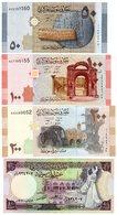 LOT SET SERIE 4 BILLETS SYRIE SYRIA 50 - 100 - 200 ( 2009 ) - 10 ( 1991 ) LIRA UNC NEUF - Syrie