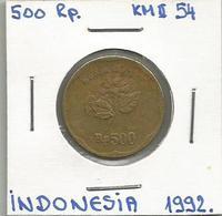 D5 Indonesia 500 Rupiah 1992. KM#54 - Indonesia