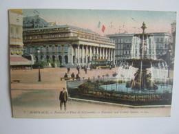 Bordeaux. Fontaine Et Place De La Comedie. LL 7 Postmarked 1918 - Bordeaux