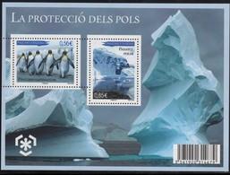ANDORRE FRANCE BLOC FEUILLET N° 2** NEUF  PROTECTION DES POLES - Blocs-feuillets