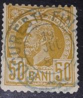 Carol I,ROMÂNIA 1885-89, MI 69,, 50b, USED EAGLES - 1881-1918: Carol I.