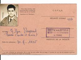 PARIS....UNIVERSITE DE PARIS....MR  DALLAPORTA....FACULTE DES LETTRES ET SCIENCES HUMAINES....2 CARTES 1961  Et 1962 - Documentos Históricos