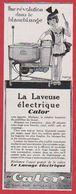 La Laveuse électrique Calor. 1930. - Publicités