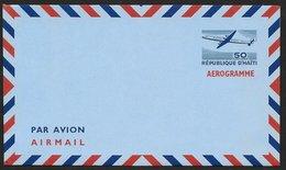 HAITI Aerogramme 50c Airplane C1950s Unused! STK#X21265 - Haiti