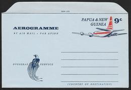 PAPUA NEW GUINEA Aerogramme 9c Airplane C1960s Unused! STK#X21266 - Papua New Guinea