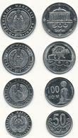 Uzbekistan - Set 4 Coins 50 100 200 500 Som 2018 UNC Ukr-OP - Uzbenisktán