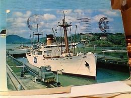 PANAMA BARCO NAVE SHIP CARGO FRUTTA FRUIT  CHIQUITA  MORAZAN STAMP SELO TIMBRE 25 CCANALZONE Air Mail  VB1970 GX5534 - Panama