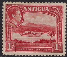 Antigua 1938 - 51 KGV1  1d Nelsons Dockyard MM SG 99 ( L1381) - Antigua & Barbuda (...-1981)