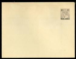 NED.INDIE PWS OMSLAG OVERDRUK 10 CT Op 10 CT BONTKRAAG NEDERLAND ONGEBRUIKT   (11.454r) - Netherlands Indies