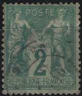 1876 Sage N/B N°62 2c Vert Oblitéré Cachet à Date TTB ! - 1876-1878 Sage (Type I)