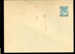 NED.INDIE PWS OMSLAG OVERDRUK 12 1/2 CT Op 12 1/2 CT BONTKRAAG NEDERLAND ONGEBRUIKT   (11.454s) - Nederlands-Indië