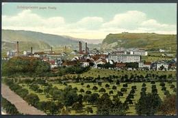 Schönpriesen Gegen Aussig, Krasne Brezno, 1907, Fabriken, Usti Nad Ladem, Verlag Focke - Tschechische Republik