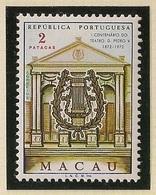 Macau Portugal China Chine 1972 - The 100th Anniversary Of Pedro V Theatre, Macao - Mint / Neuf - Neufs