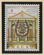 Macau Portugal China Chine 1972 - The 100th Anniversary Of Pedro V Theatre, Macao - Mint MNH / Neuf - Macau