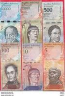 Venezuela 6 Billets En AU-UNC-SPL+ Lot N °6 (10000 Et2000 Bolivares 2016 FORTE COTE Numéros Des Billets Peuvent Changer - Venezuela