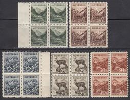 SLOWAKEI 1940 - MiNr: 71 - 75 Komplett 4er Feinst ** / MNH - Slowakische Republik
