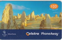 AUSTRALIA - Australian Icons/The Pinnacles(00010067PA), Telstra Prepaid Card $10, Exp.date 12/02, Used - Australia