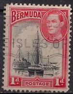 Bermuda 1938 - 52 KGV1  1d Ships In Hamilton Harbour SG 110 ( L1396 ) - Bermuda