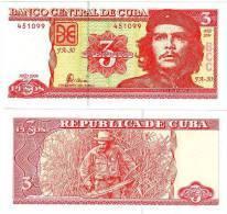 Cuba Billet 3 PESOS 2004 P127 CHE Guevara NEUF UNC - Cuba