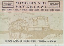 """""""ISTITUTO SAVERIANO MISSIONI ESTERE""""-ANCONA-1971- CARTOLINA PER I BENEFATTORI-TIMBRO POSTE ANCONA ,TARGHETTA""""ATTIVAZIONE - Missioni"""