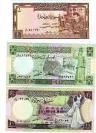 LOT SET SERIE 3 Billet Syrie SYRIA POUND 1982 - 1991 NEUF UNC - Syrie