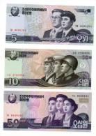 LOT SERIE SET 3 BILLET Coree Nord NORTH KOREA 2009 NEUF - Corée Du Nord