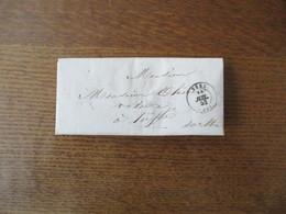 SEES 13 JUIL. 52 SUR COURRIER OLIVIER - 1849-1876: Période Classique