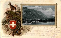 Wallenstadt - Prägekarte - SG St. Gall