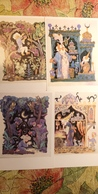 4 PCs Lot - Fairy Tale / LITTLE MUCK   - OLD  USSR Postcard  - Owl -  Der Kleine Muck - CAT - Fairy Tales, Popular Stories & Legends