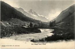Am Wege Nach Zinal - VS Wallis