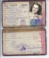 CARTE D'IDENTITE N°2580  R.F.  1950  LYON - Cartes