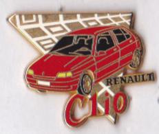 Pin's Métal Zamac Renault Clio Rouge, Signé Arthus Bertrand - Renault