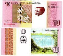 Angola Geldschein 10 Kwanzas 10/ 2012 ( 2017 ) Neu Nouveau Luena Neu Unc - Angola