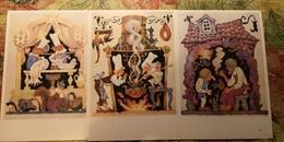 3 PCs Lot - Fairy Tale /  Wilhelm Hauff - OLD  USSR Postcard  - Der Zwerg Nase -  Squirrel - Fairy Tales, Popular Stories & Legends