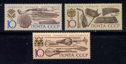 RUSSIE - 5907/5909° - INSTRUMENTS DE MUSIQUE - Gebruikt