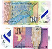 Macedoine MACEDONIA Billet 10 DINARA 2018 POLYMER NOUVEAU PAON / PEACOCK UNC NEUF - Billets