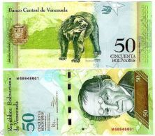 VENEZUELA Billet 50 BOLIVARES 2011 P92  OURS /  SIMON RODRIGUEZ UNC NEUF - Other - America