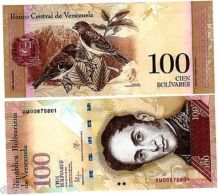 VENEZUELA Billet 100 BOLIVARES 2015 P93  OISEAUX / SIMON BOLIVAR UNC NEUF - Billets