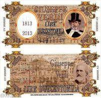 GIUSEPPE VERDI LIRE DUECENTOMILA 1813 - 2013 POLYMER  FANTAISIE NEUF UNC - Other - Oceania
